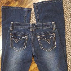 Hydraulic Dark Wash Flare Jeans